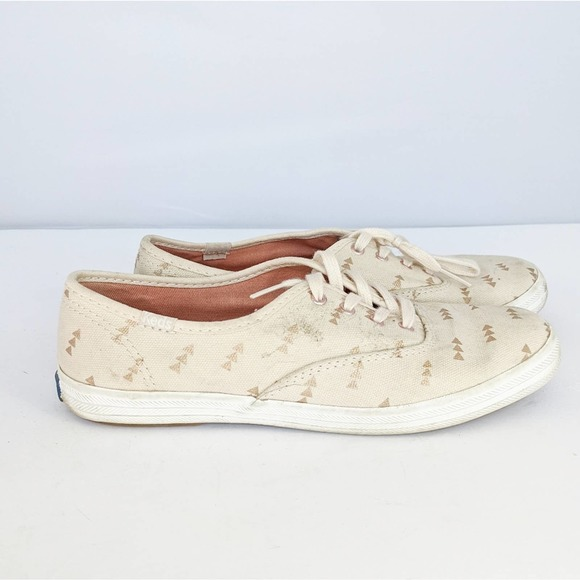 Keds White Gold Arrow Sneakers 6.5